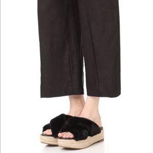 Sam Edelman Zia Faux Fur Platform Sandal size 7.5